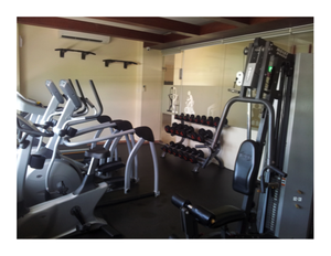 Fitness area in dormitory