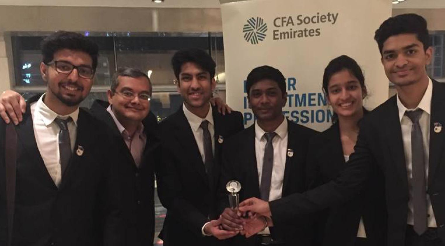 Winning Jags from left: Ganeshram, Prof Arindam, Kunal, Sai Kartheek, Lavena and Aadit