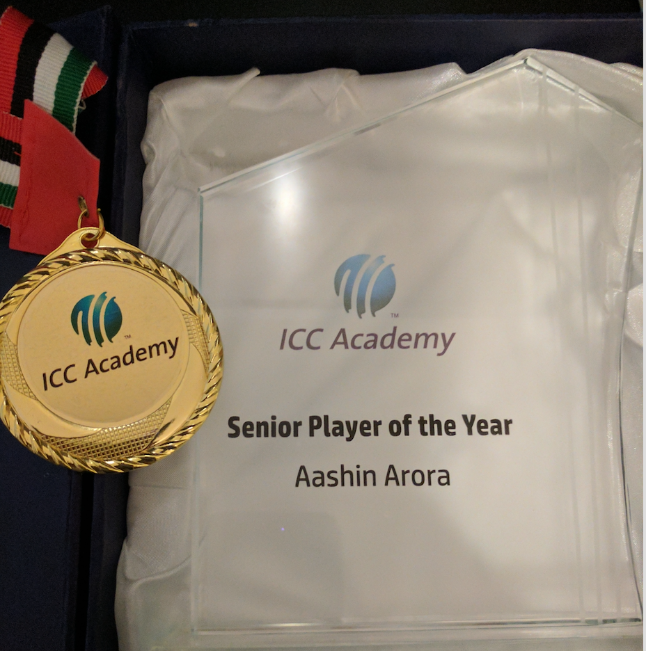 Aashin Named ICC Player of the Year