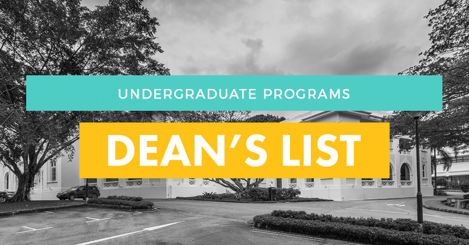 Dean's List for 2017-18 Academic Year