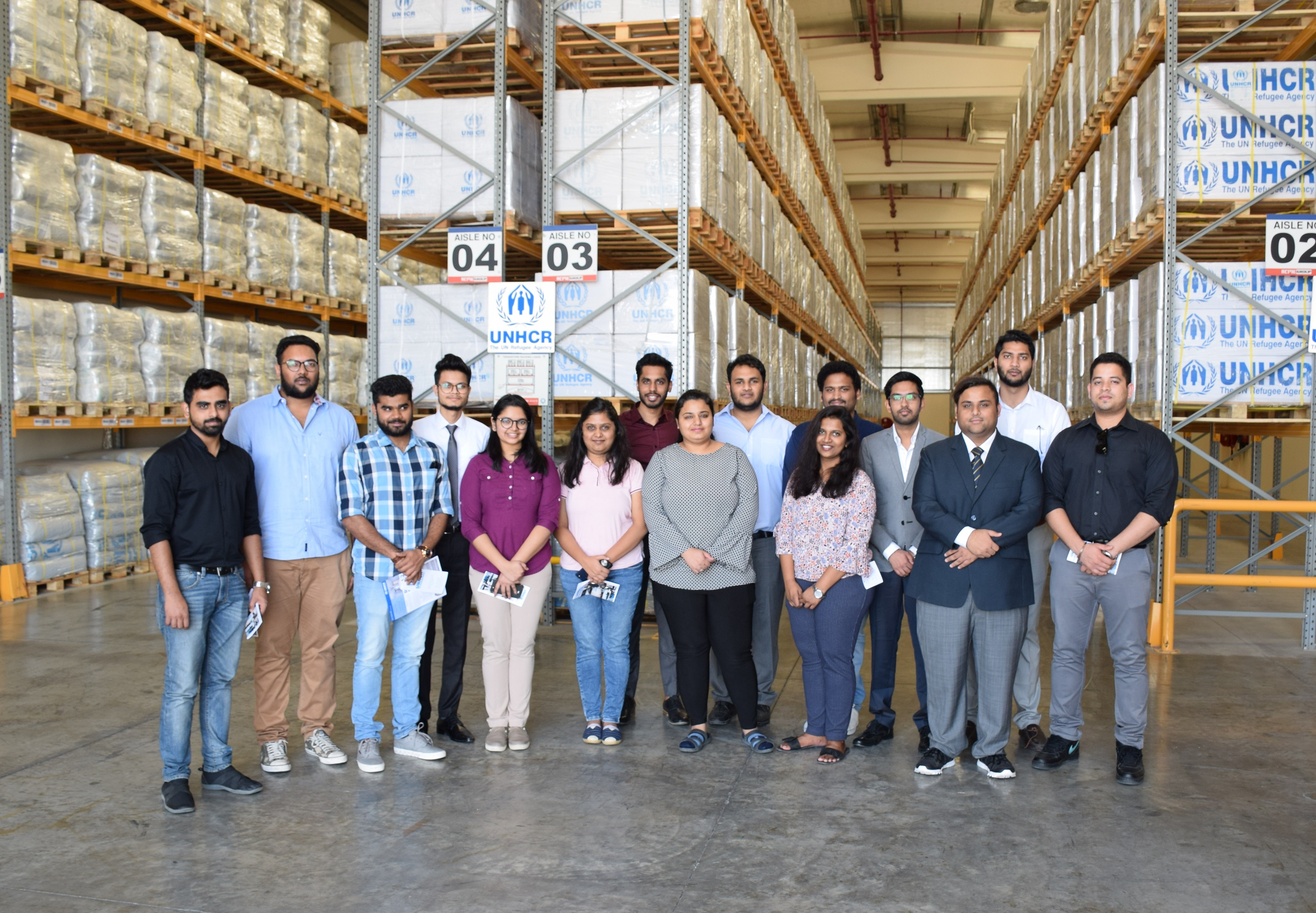 Understanding Operations Management – BBA students visit UNHCR in Dubai